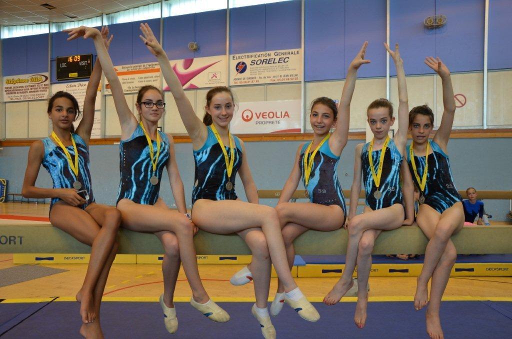 Les Gymnastes du Collège vice-championnes d'académie !!!