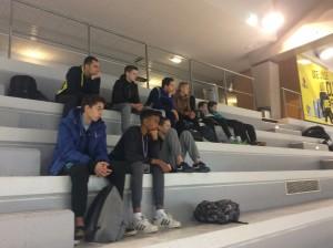 Ce matin on a assisté au premier match de la poule pour découvrir nos futurs adversaires.